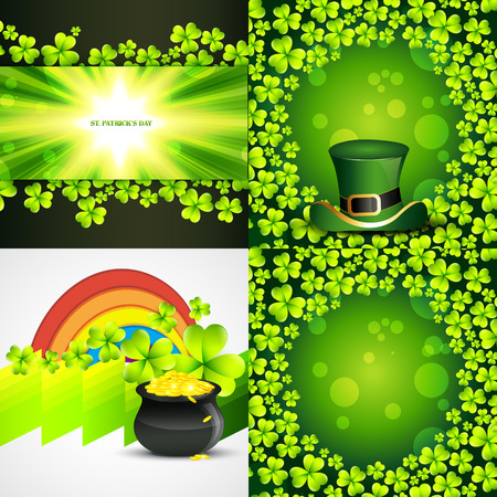 patrick s: vector collection of saint patrick s day background illustration