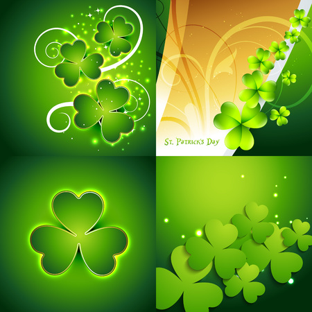 17th of march: vector collection of st. patricks day background illustration