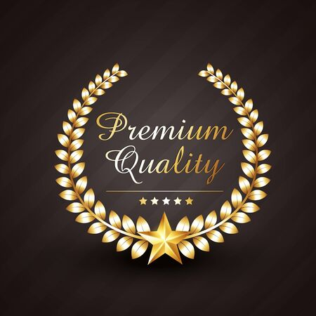 premium quality golden award vector design illustration with stars Vector