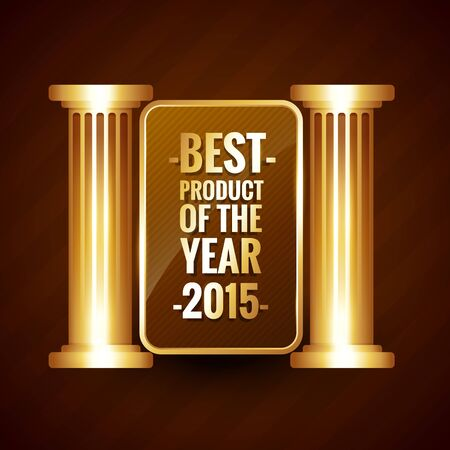 best product: best product of the year in shiny golden style vector