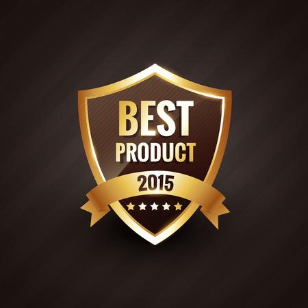 best product: best product of 2015 golden label design badge element