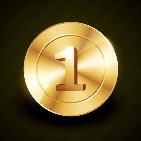 no 1: golden no 1 label design illustration
