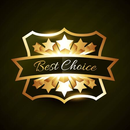 coming out: best choice label design with stars burst and coming out Illustration