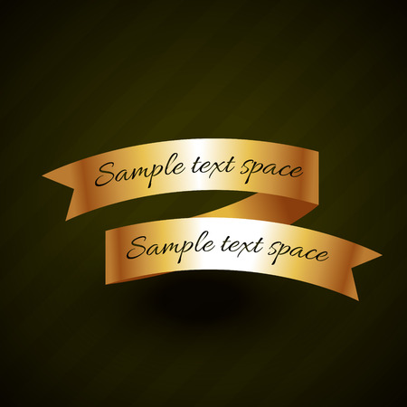 golden ribbon: golden ribbon vector design with space for your text