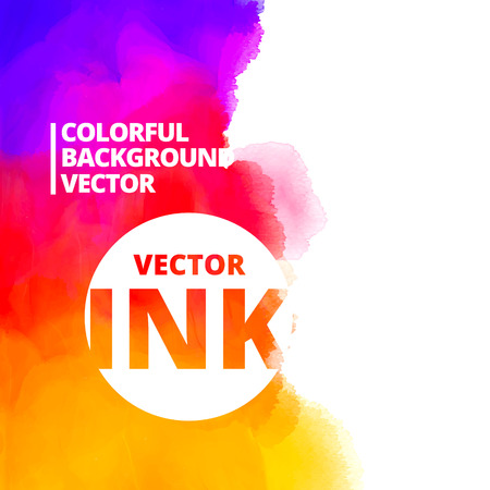 background of colorful ink splash design illustration 向量圖像