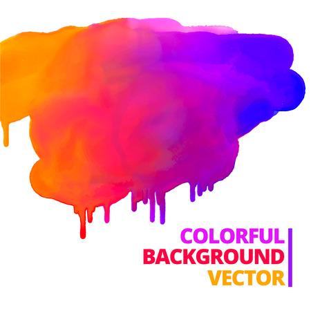 flow of paint colors ink splash vector design illustration Vectores