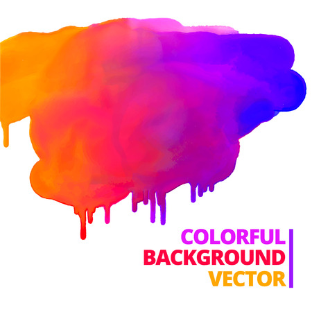 flow of paint colors ink splash vector design illustration Illustration