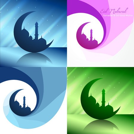 mosque illustration: vector creative set of ramadan festival background with mosque illustration Illustration