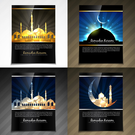 quran: vector attractive brochure of eid festival illustration with flyer and template design