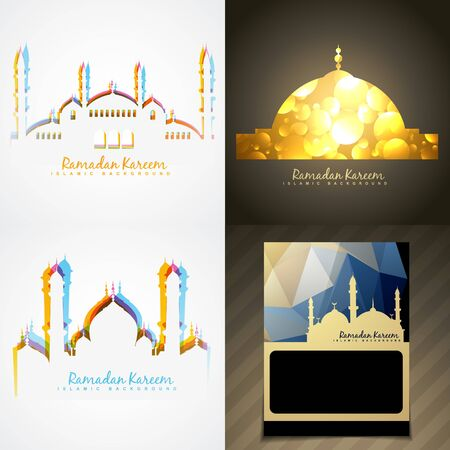 mohammad: vector attractive set of ramadan kareem festival background illustration