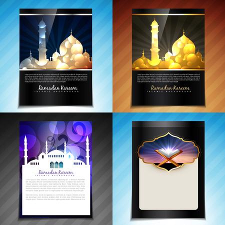mohammad: vector set of attractive brochure design illustration of eid festival