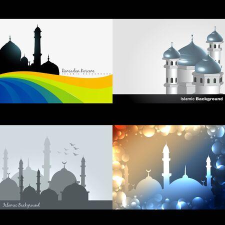 mohammad: vector attractive background set of ramadan kareem festival illustration Illustration
