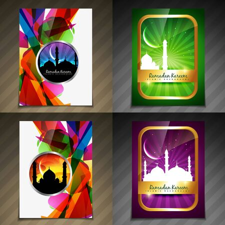 illustration collection: vector collection of attractive background of eid festival illustration