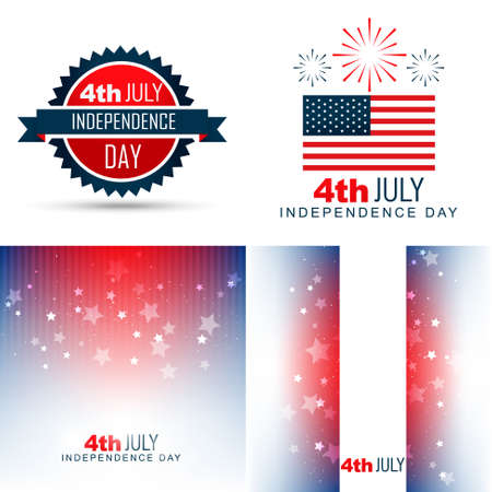 background color: vector simple set of american independence day background illustration with creative pattern