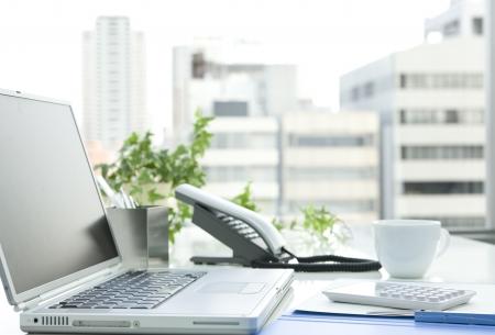 office work: Office desk Stock Photo