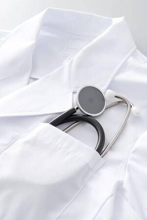 Stethoscope that entered pocket Stock Photo