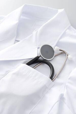 Stethoscope that entered pocket Stock Photo