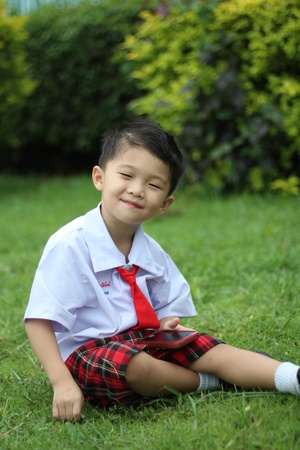 Boy in school uniform Stock Photo - 16304760