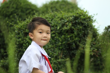 Boy in school uniform