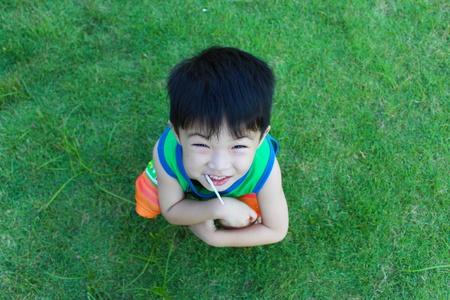 The boy smiled Stock Photo - 16304762