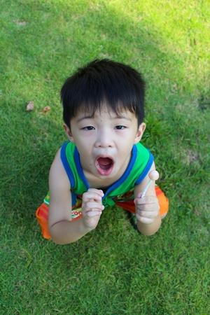 The boy smiled Stock Photo - 16304761