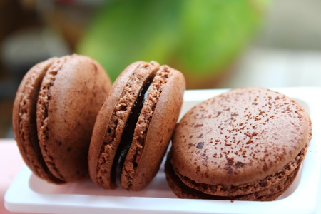 chocolate macaroons Stock Photo - 16730535