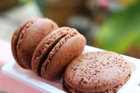 chocolate macaroons Stock Photo - 16730544