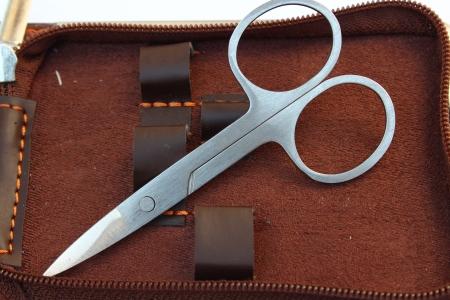 Scissors on bag Stock Photo - 16757189