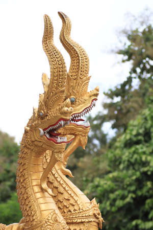 naka, snake statue of Thailand photo