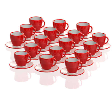 red cups 3 d render photo