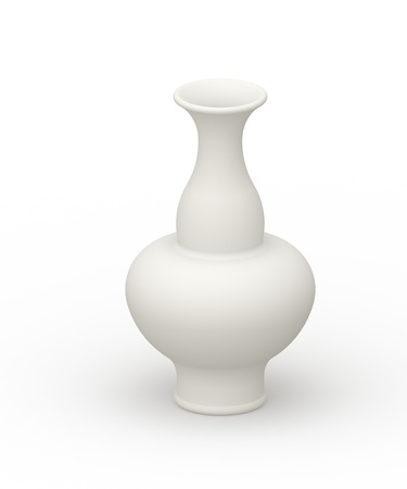 sleeper: White vase