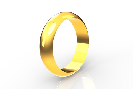 Gold ring Stock Photo - 21355607