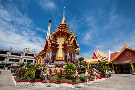 buddist: Ancient buddist crematory in Wat Chai mong kol  Thailand Stock Photo