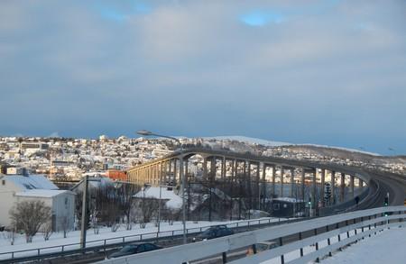 bridging: Bridge in Tromso Stock Photo
