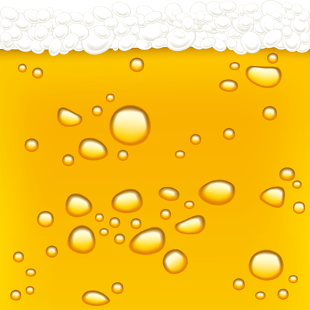 Beer drops. Blond beer and foam. Background.