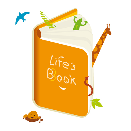 Metaphor of nature Book of life. Vector illustration eps10.