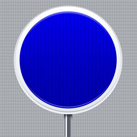 Information signal. Traffic road signal with reflective texture. Isolated. Illustration