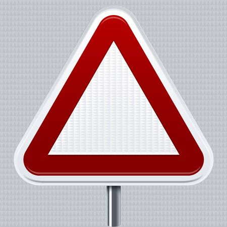 Prohibiton signal. Traffic road signal with reflective texture. Isolated. Foto de archivo - 128638626