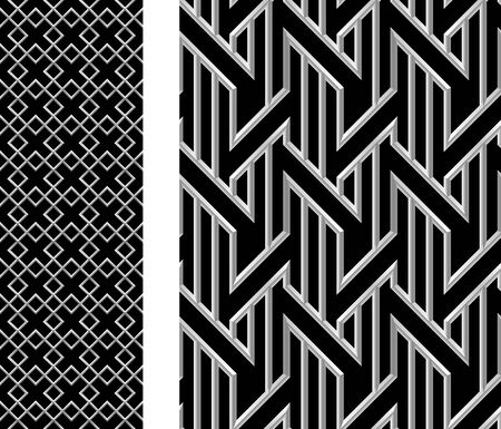 Seamless metallic background with squares and diagonal lines.