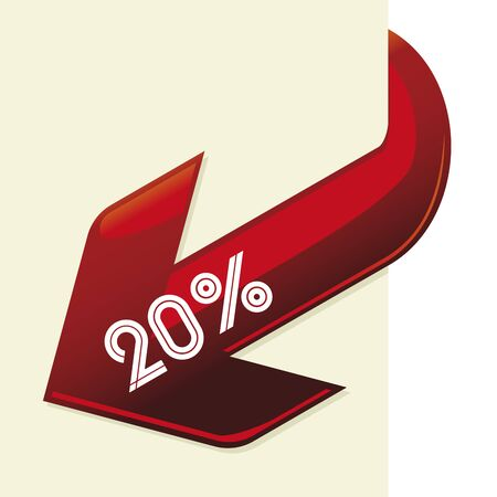 Discount or copy space blank arrow isolated.