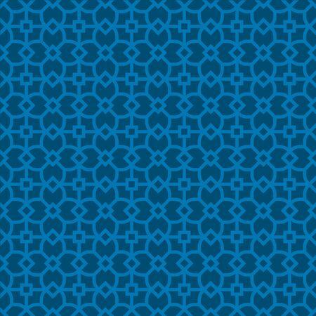 Seamless islamic jaulosie in flat and geometric style. Иллюстрация