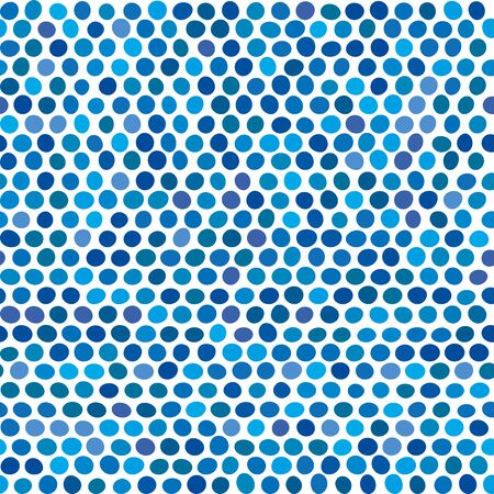 Vector illustration. Seamless background of blue and green dots.