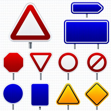 Vector illustration. Road traffic signals in shiny style. Isolated.