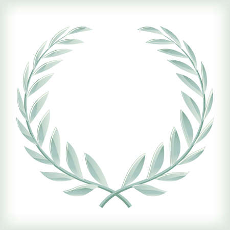 Light bayleaf or laurel wreath icon isolated.  イラスト・ベクター素材