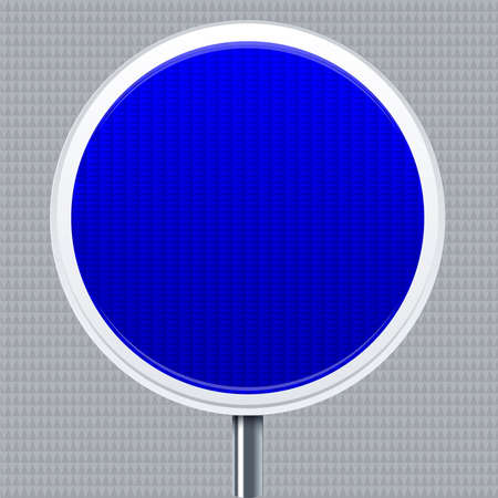 Information signal. Traffic road signal with reflective texture. Isolated.  イラスト・ベクター素材
