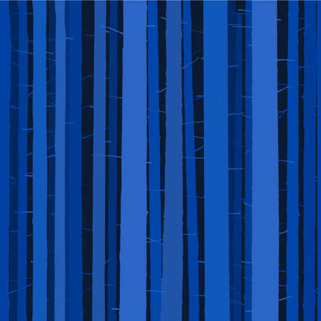 Seamless dark blue forest background full of tree woods.