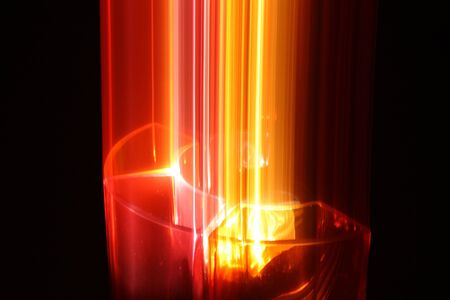 Abstract photography, glass vases blur effect. photo