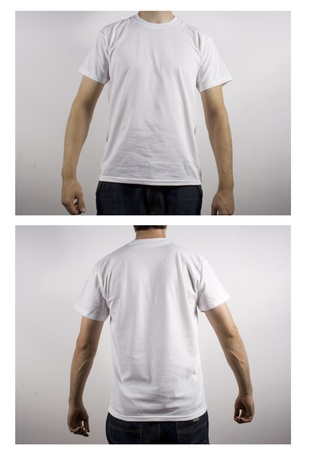 cloth back: white t-shirt