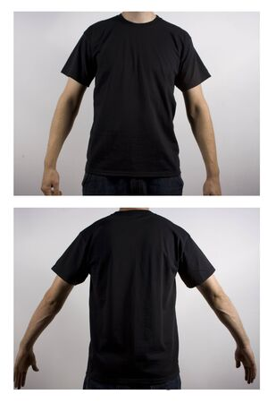 tee: black shirt Stock Photo