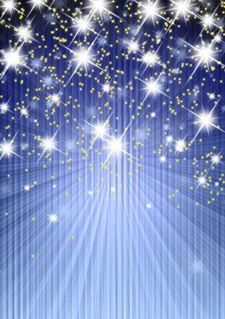 effects of lighting: background stars, abstract illustration Stock Photo